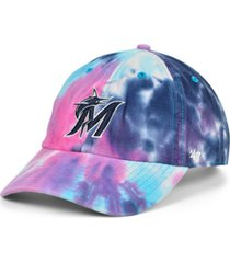 '47 brand women's miami marlins tie dye adjustable cap