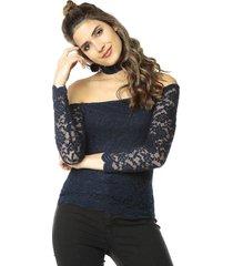 blusa azul oscuro ambiance