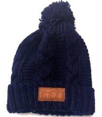 gorro de lana archibueno azul niba