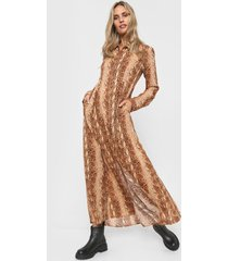 vestido marrón ted bodin braque