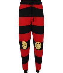 joshua sanders striped redblack smiley pants