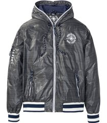 giacca antivento con cappuccio (grigio) - bpc bonprix collection