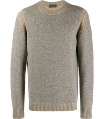 roberto collina knitted wool sweatshirt - neutrals