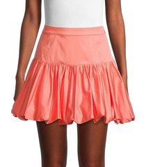 derek lam 10 crosby women's kami bubble mini skirt - orange - size 0