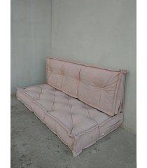 siedzisko materac francuski puf ottoman róż
