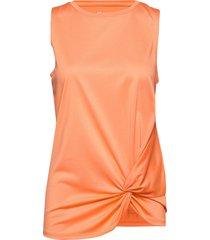 knot singlet t-shirts & tops sleeveless orange röhnisch