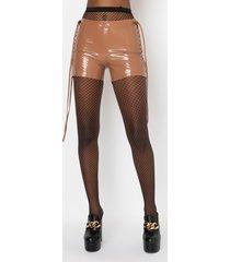 akira wuz poppin vinyl lace up shorts