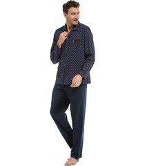 heren pyjama doorknoop robson 27212-702-6-xxl/56