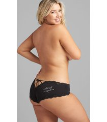 lane bryant women's strappy-back cheeky panty 18/20 watch out cupid