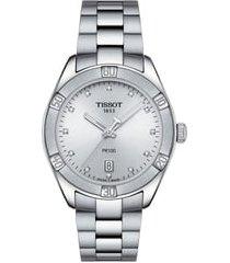 women's tissot t-classic pr 100 bracelet watch