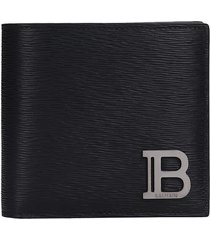 balmain wallet in black leather