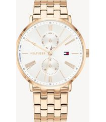 tommy hilfiger women's dress watch wi gold-plated bracelet rose gold -