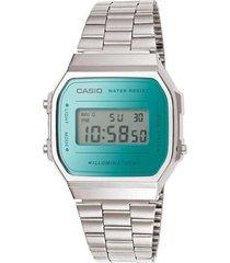 reloj a-168wem-2d casio plateado