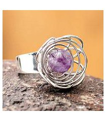 amethyst cocktail ring, 'sparrow's nest' (peru)