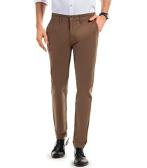 pantalón twill slim l/33 marrón ferouch