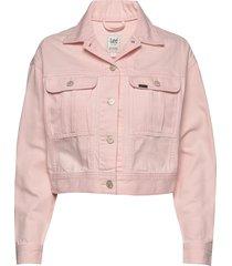 cropped jacket jeansjacka denimjacka rosa lee jeans