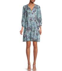 calvin klein women's print dress - sea shore multicolor - size 12