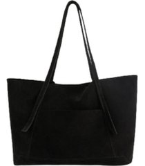 mango women's leather shopper tote bag
