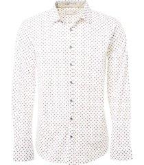 shirt allover printed dots plum