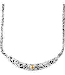 bali heritage classic necklace in sterling silver and 18k yellow gold accents