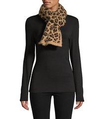 leopard-print eyelash scarf