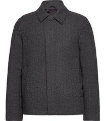 herringb wool jacket wollen jack jack grijs lyle & scott