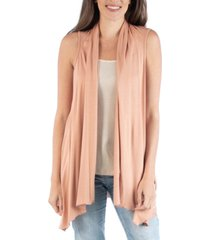 24seven comfort apparel draped open front sleeveless cardigan vest