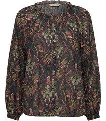 anna printed blouse blouse lange mouwen grijs odd molly
