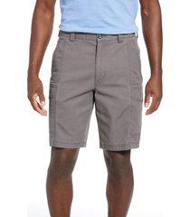 men's big & tall tommy bahama key isles cargo shorts, size 44 - black