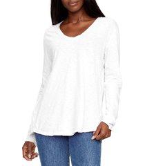 women's michael stars janna long sleeve v-neck t-shirt