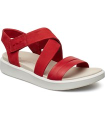 flowt w shoes summer shoes flat sandals röd ecco