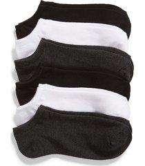 women's nordstrom 6-pack footie socks, size one size - grey