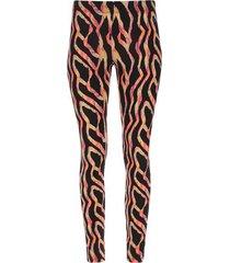 leggings sport franjas de color neon color negro, talla xl
