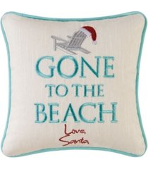 c & f home gone to the beach embroidered pillow bedding