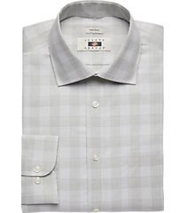joseph abboud olive plaid dress shirt