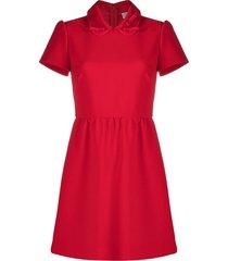 red valentino peter pan collar mini dress