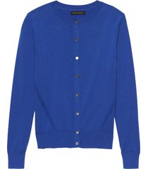 sweater stretch cotton cardigan azul banana republic