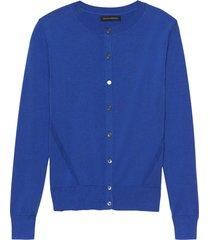 sweater stretch cotton cardigan azul banana republic