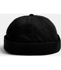 mens black twill docker hat