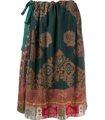 pierre-louis mascia all-over print skirt - green