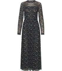 dress knitted fabric maxi dress galajurk zwart taifun