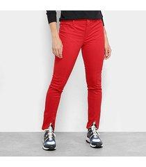 calça skinny ellus megan fendas cintura média feminina