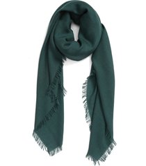 akris fringe cashmere scarf in gallus green at nordstrom