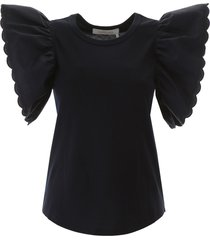 see by chloé t-shirt with butterfly sleeves