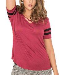 blusa ivania vinotinto para mujer croydon