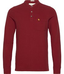 anf mens knits knitwear half zip jumpers röd abercrombie & fitch