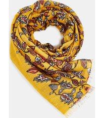 pañuelo con estampado de flores amarillo esprit