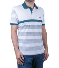 camiseta tipo polo-blanca-puntazul-41440
