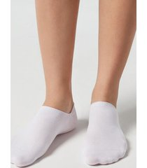 calzedonia unisex cotton no-show socks man white size 44-45