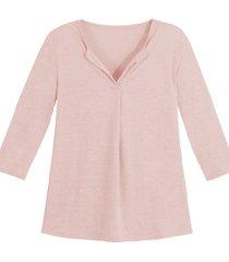 linnen jersey shirt, roze 36